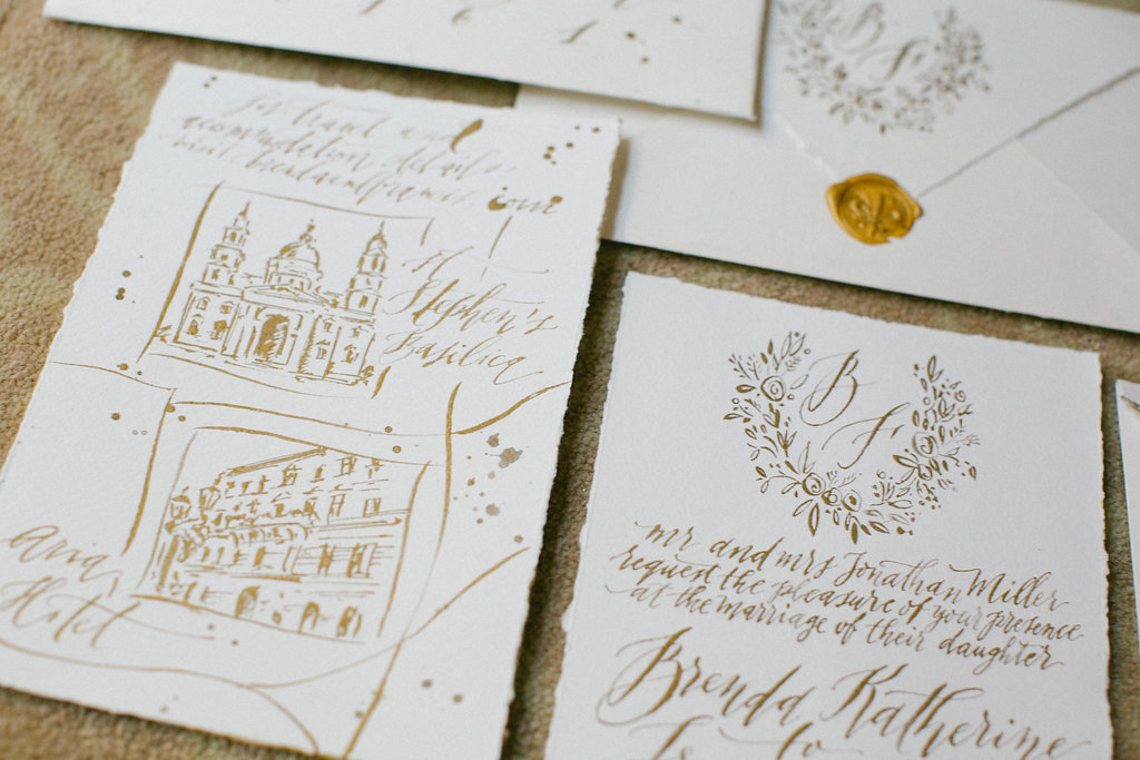 The Fanatic Calligrapher esküvői meghívó