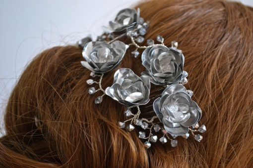 RÓZA - fém hajékszer kollekció (2)