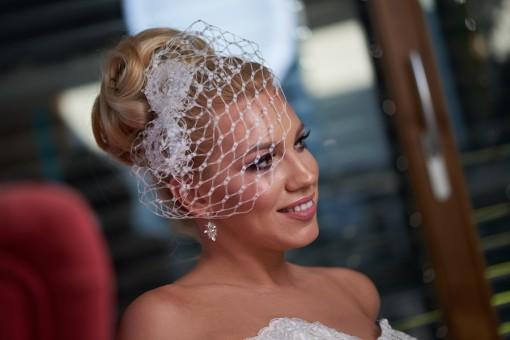Birdcage fátyol esküvőre - Bridal Mirage (2)