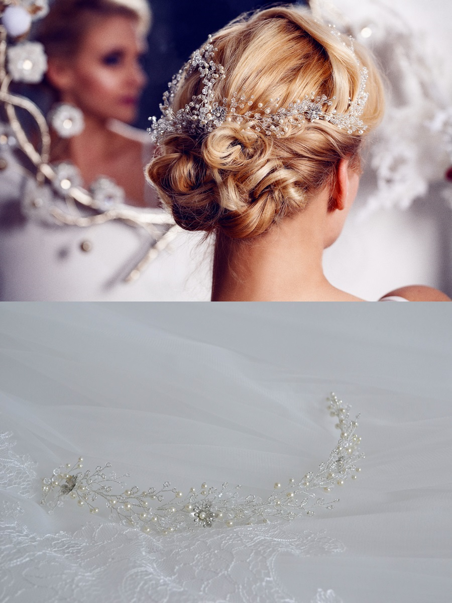 Esküvői hajékszer Peller Anna