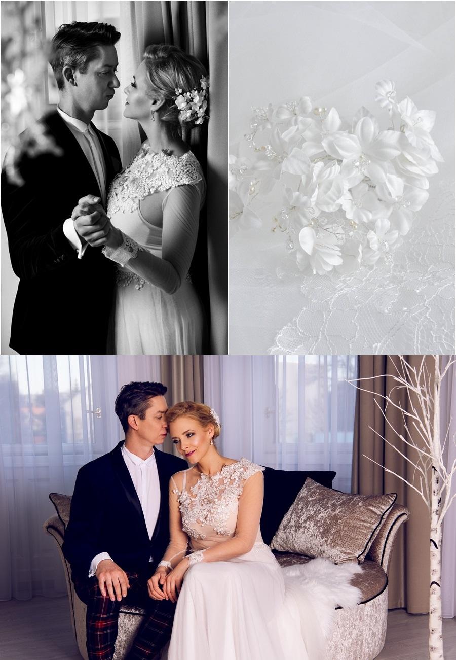 Peller Anna esküvői hajdísz
