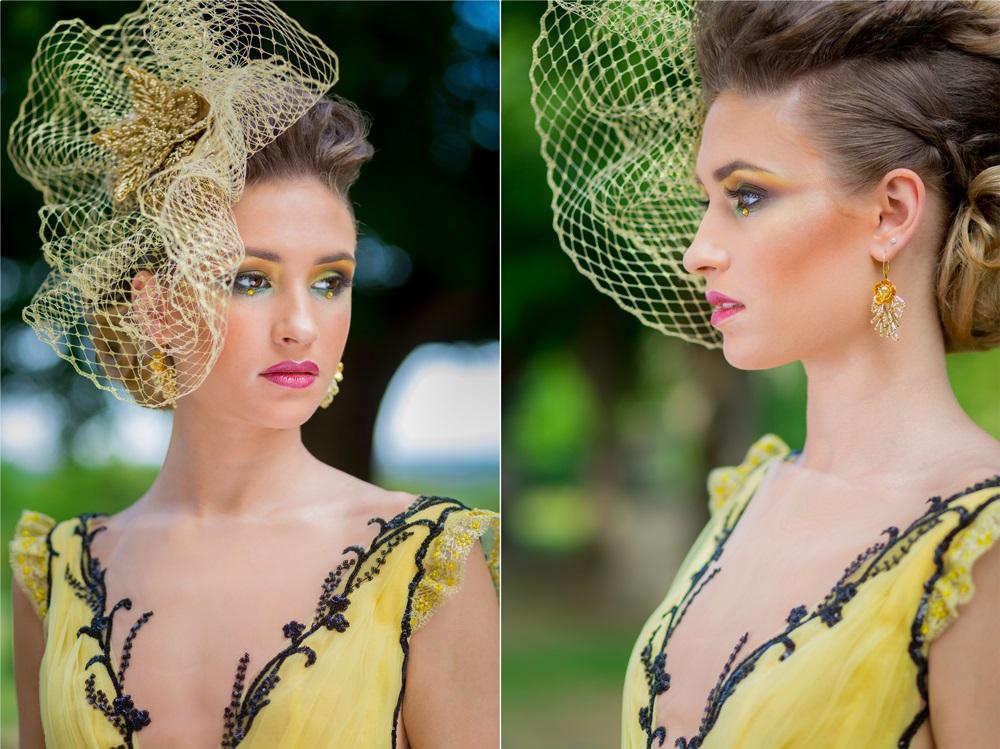 alkalmi kalap készítés arany színű
