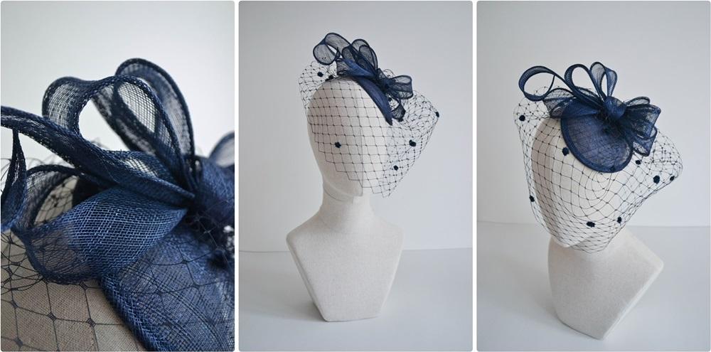 kalap készítés - kék